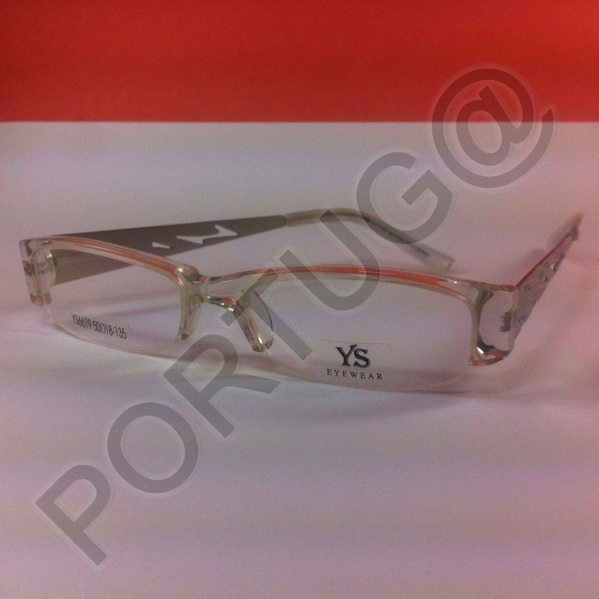 7a193d26df99f armação transparente branca unissex óculos lentes grau 6619. Carregando  zoom.