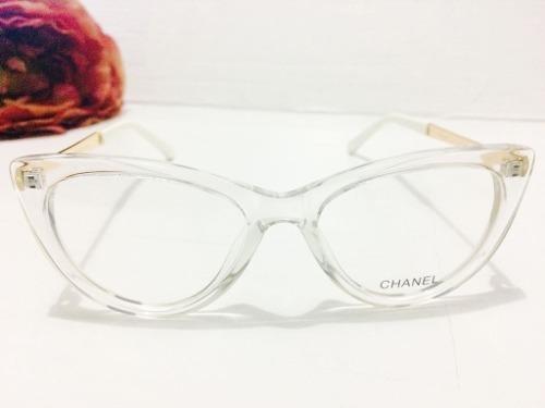 8eb85ac781e85 Armação Transparente Chanel Oculos Em Acetato - Fotos Reais - R  145 ...
