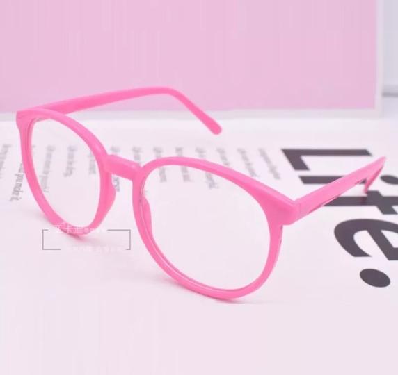 4e35adbd9147d Armação Unissex Estilo Nerd Para Óculos De Grau - Pink - R  39