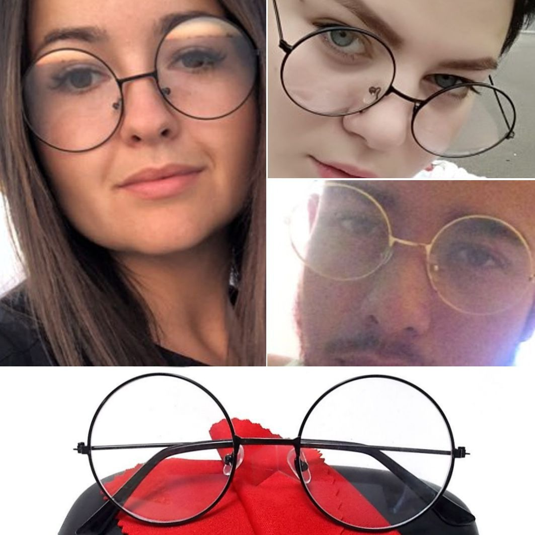 4c7ce8a34875c Armação Unissex Redonda Retrô Óculos John Lennon A2 Oferta - R  48 ...