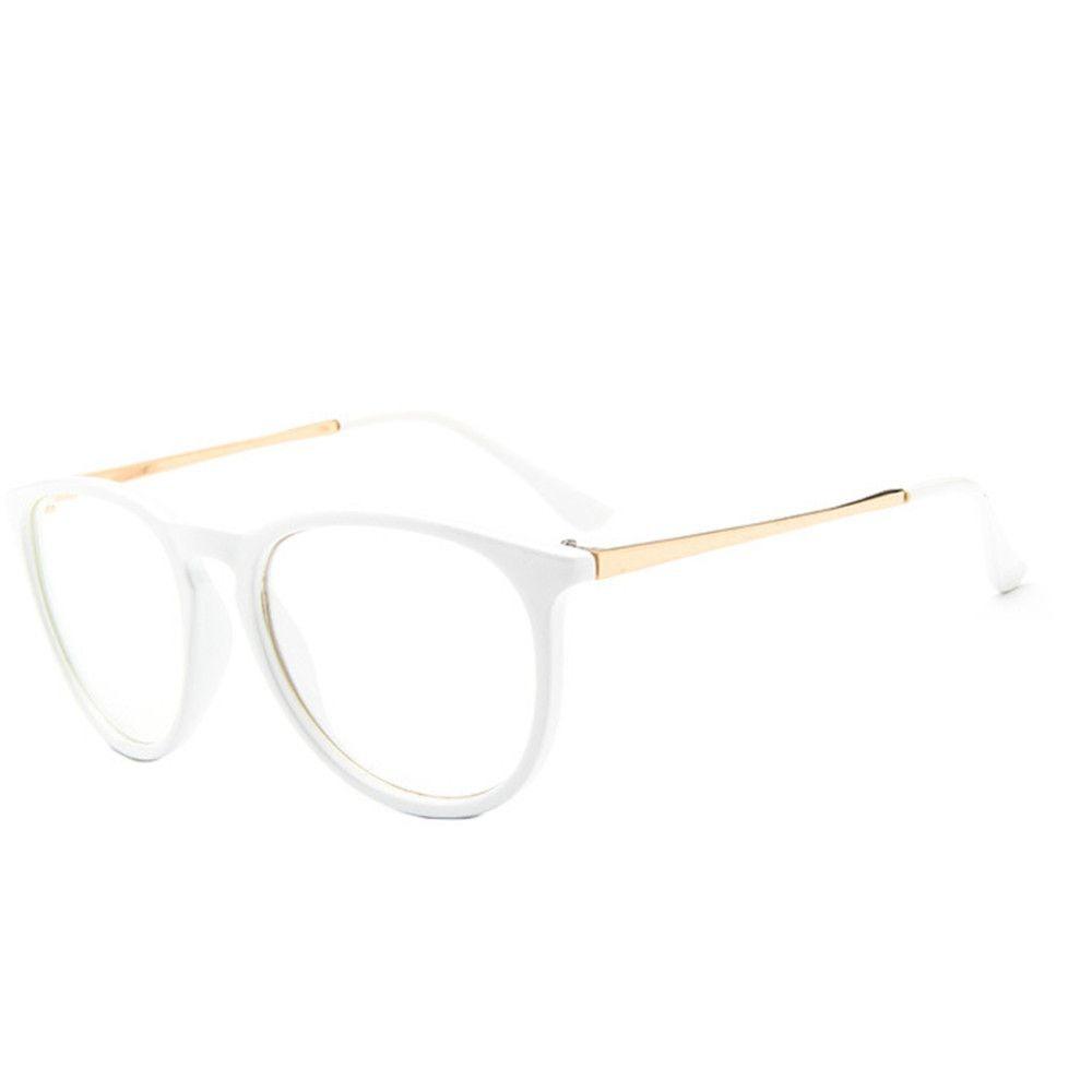 f86ba81c80da9 armação unissex vintage para óculos de grau - branca. Carregando zoom.