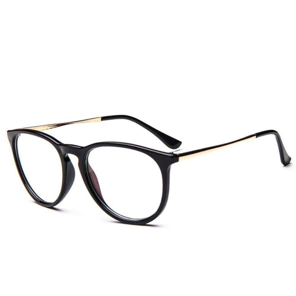 bca9109838beb armação unissex vintage para óculos de grau - cor preta. Carregando zoom.