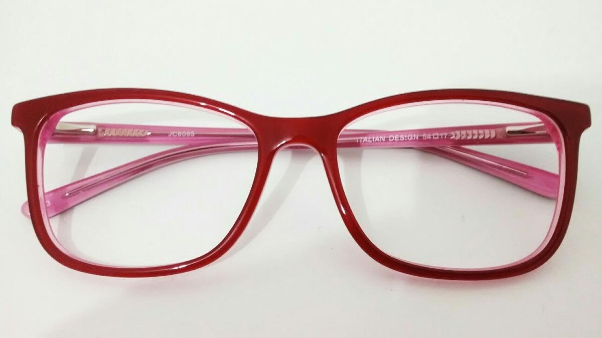 4d61ceb306d38 armação vermelha de grau óculos feminino jc6095 c3. Carregando zoom.