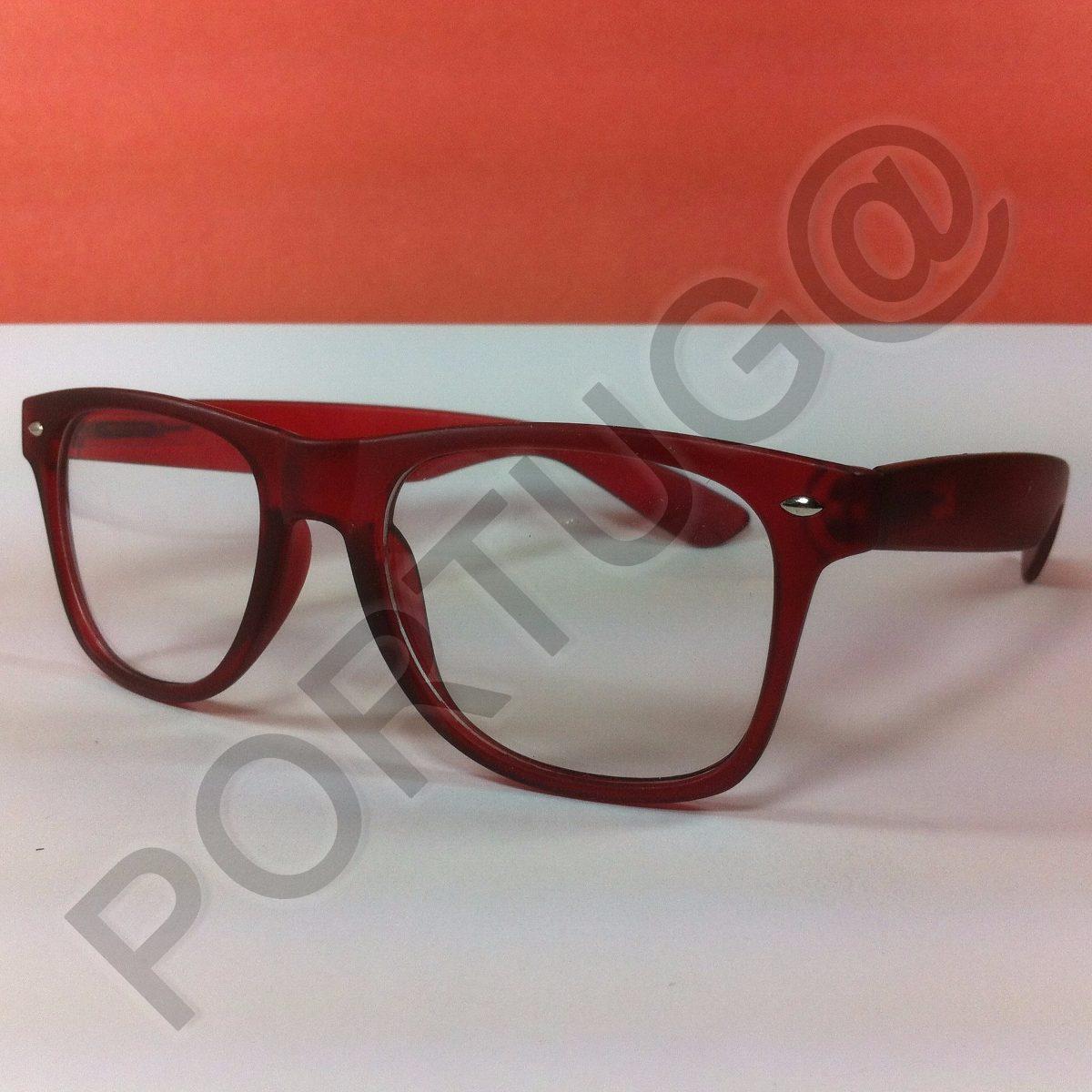 4675922fd0058 armação vermelha transparente wayfa óculos lentes sem grau. Carregando zoom.