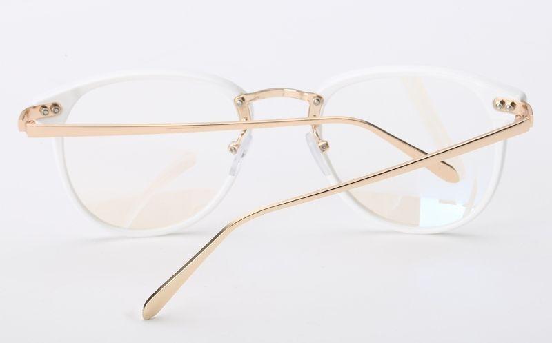 7a41508dc armação vintage redonda unissex para óculos de grau - branca. Carregando  zoom.