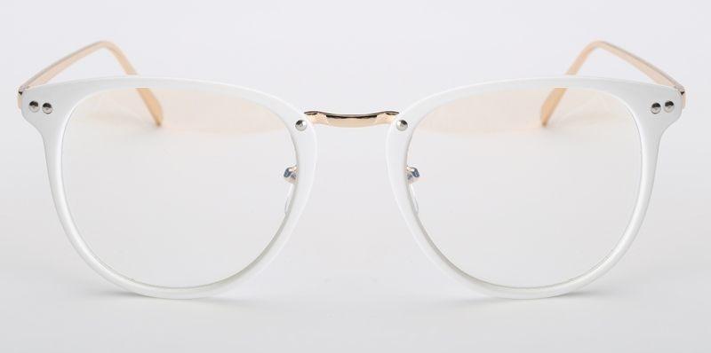 97e5b2d17 armação vintage redonda unissex para óculos de grau - branca. Carregando  zoom.