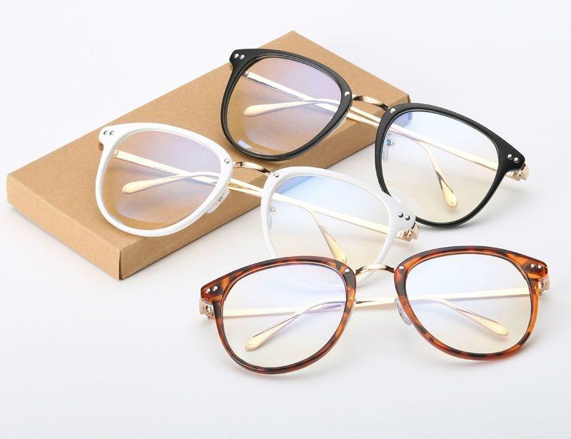 326df34f3007a armação vintage redonda unissex para óculos de grau - branca. Carregando  zoom.