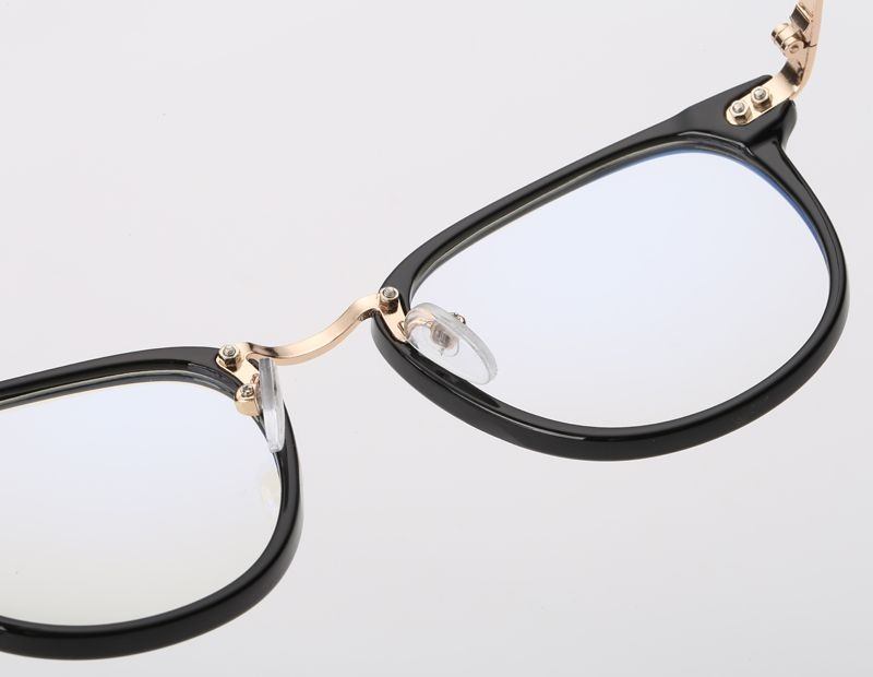 a882453480e16 armação vintage redonda unissex para óculos de grau - preta. Carregando zoom .