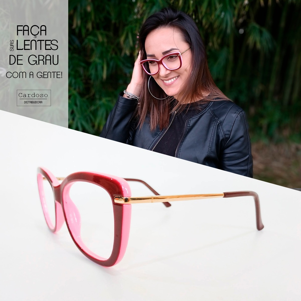 Armações Óculos Feminino Com Lentes Sem Grau Sj029 - R  59,87 em ... 9c718adc84