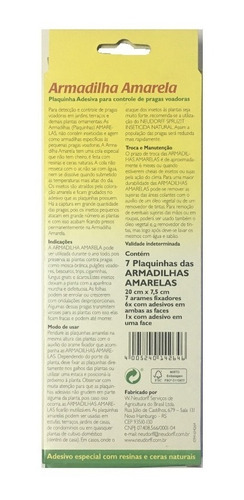 armadilha amarela / plaqueta adesiva grande - kit c/ 3 unds
