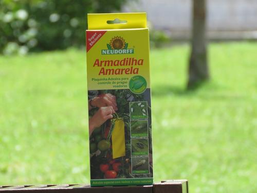 armadilha biotecnológica amarela para plantas altas neudorff