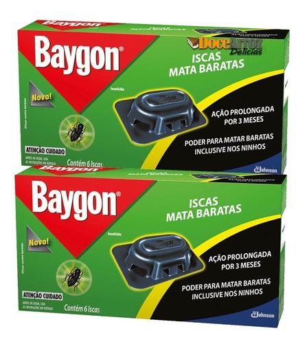 armadilha para baratas da baygon 2 caixa com 6 iscas cada
