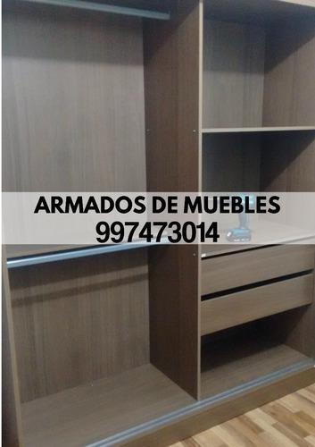 armado de muebles(roperos,centro de tv,librero) tf.997473014