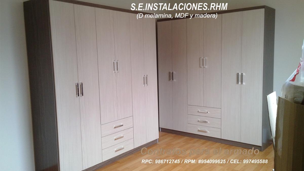 Armado Desarmado De Closet Armarios De Melamina Instalación - S  40 ... 5935280f33fb