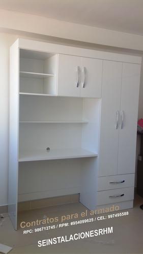 armado desarmado de closet armarios de melamina instalación