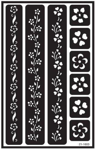 armadura etch sobre n sobre plantilla diseño floral fronter