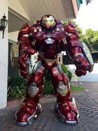armadura hulkbuster - tamanho real 2 metros+extras