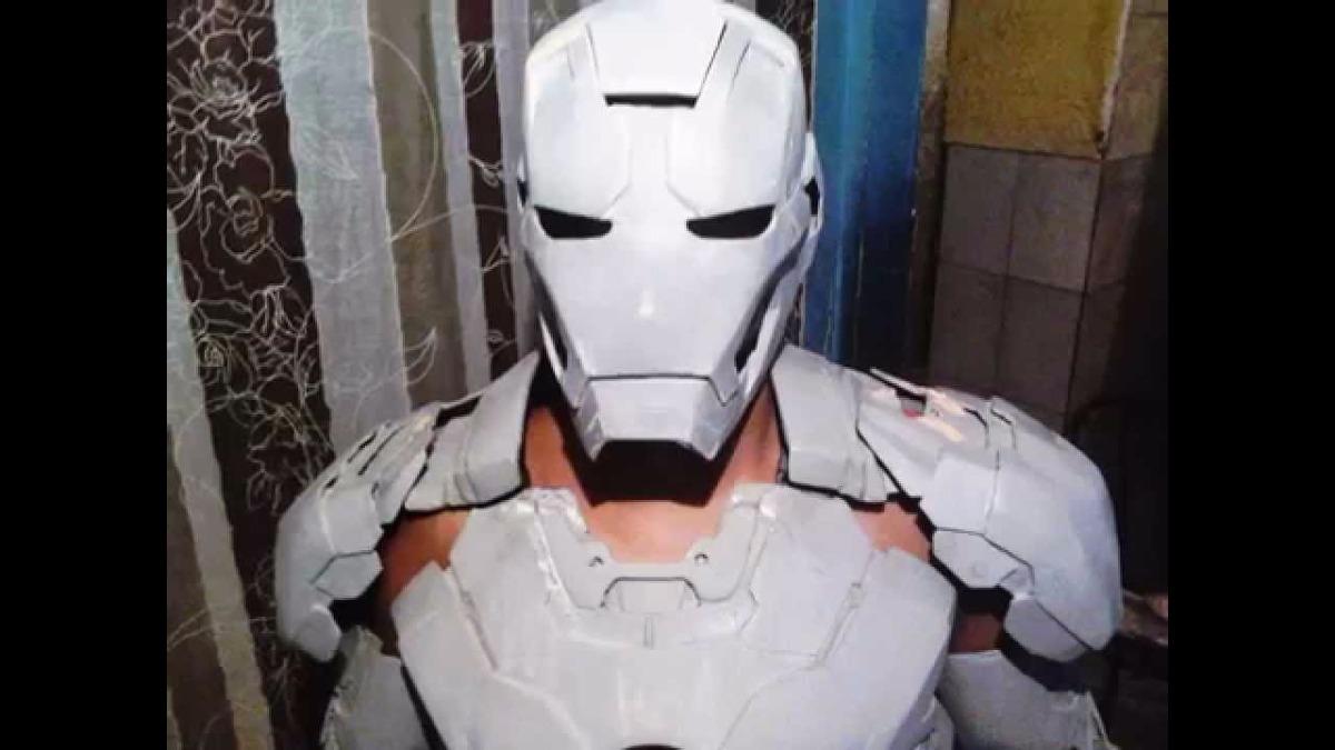 Armadura Iron Man Mark Vi Em Papercraft R 20 00 Em Mercado Livre