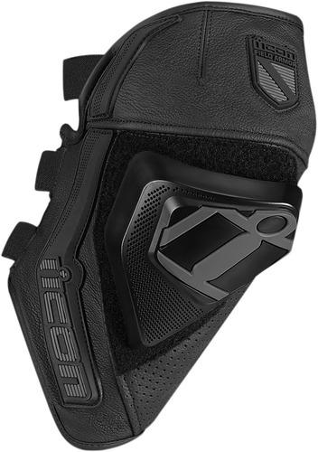 armadura para rodilla icon cloverleaf negra sm/md