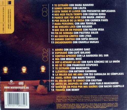 armando manzanero - todos los duetos - 2 cdpromo digipack