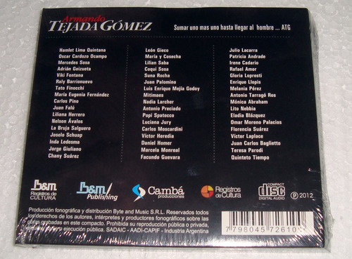 armando tejada gomez antologia cd doble sellado gieco