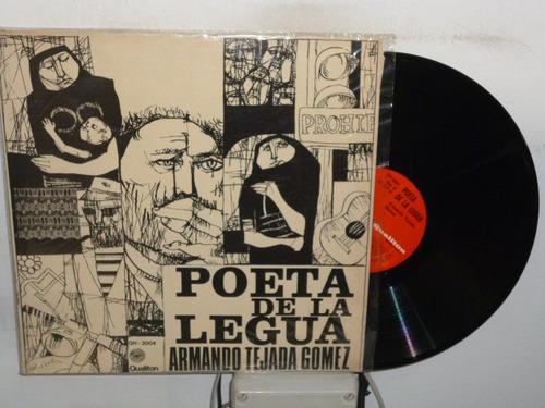 armando tejada gomez poeta de la lengua vinilo argentino