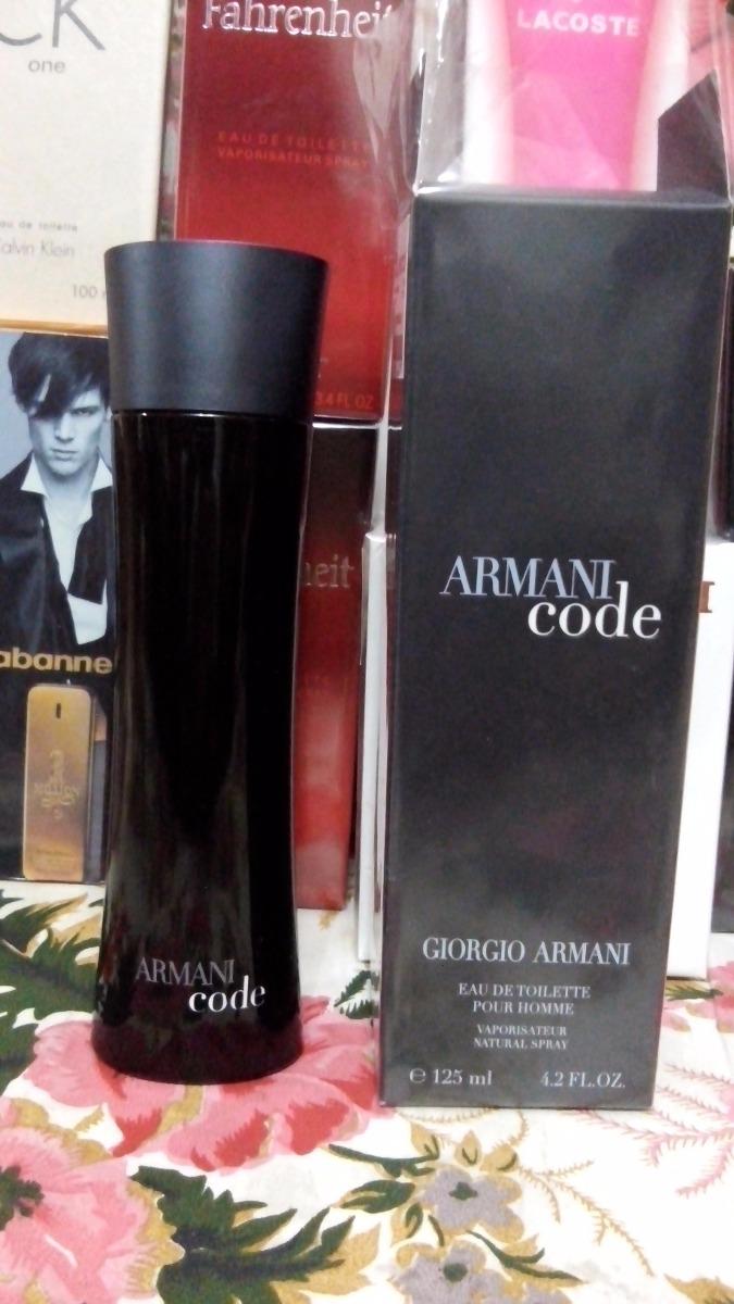 3c20046864472 Armani Code Hombre Edt 125ml Perfume Original -   650.00 en Mercado ...