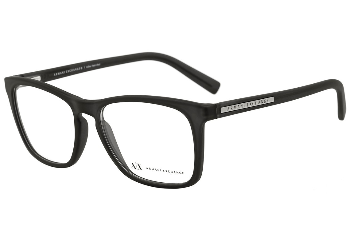 2b61c74fb6b18 armani exchange ax 3012 l - óculos de grau 8020 preto fosco. Carregando  zoom.