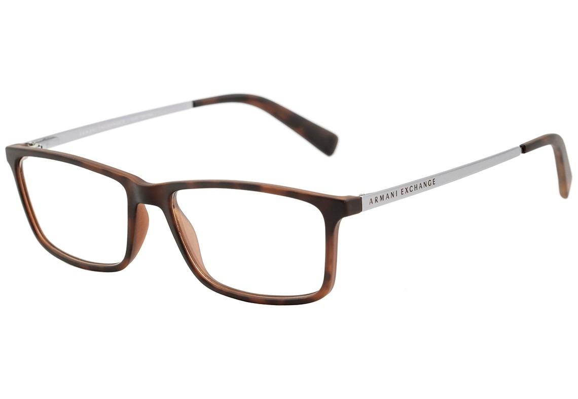 bf3719454a1dc armani exchange ax 3027 l - óculos de grau 8029 marrom. Carregando zoom.