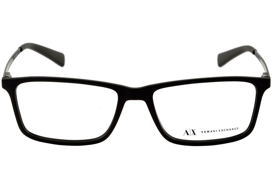 be20486f7330b armani exchange ax 3027 l - óculos de grau 8078 preto fosco. Carregando  zoom.