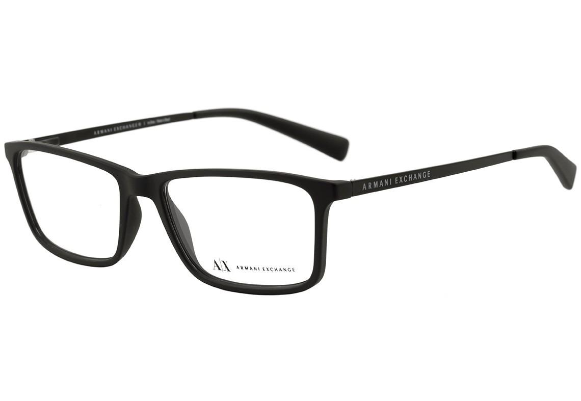 c50a4448926ef armani exchange ax 3027 l - óculos de grau 8078 preto fosco. Carregando  zoom.