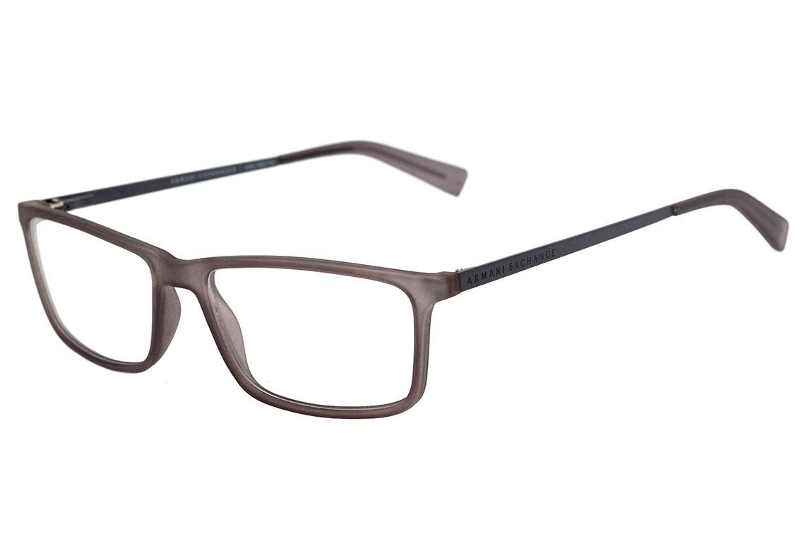99f89c9ec905e armani exchange ax 3027 l - óculos de grau 8232 cinza. Carregando zoom.