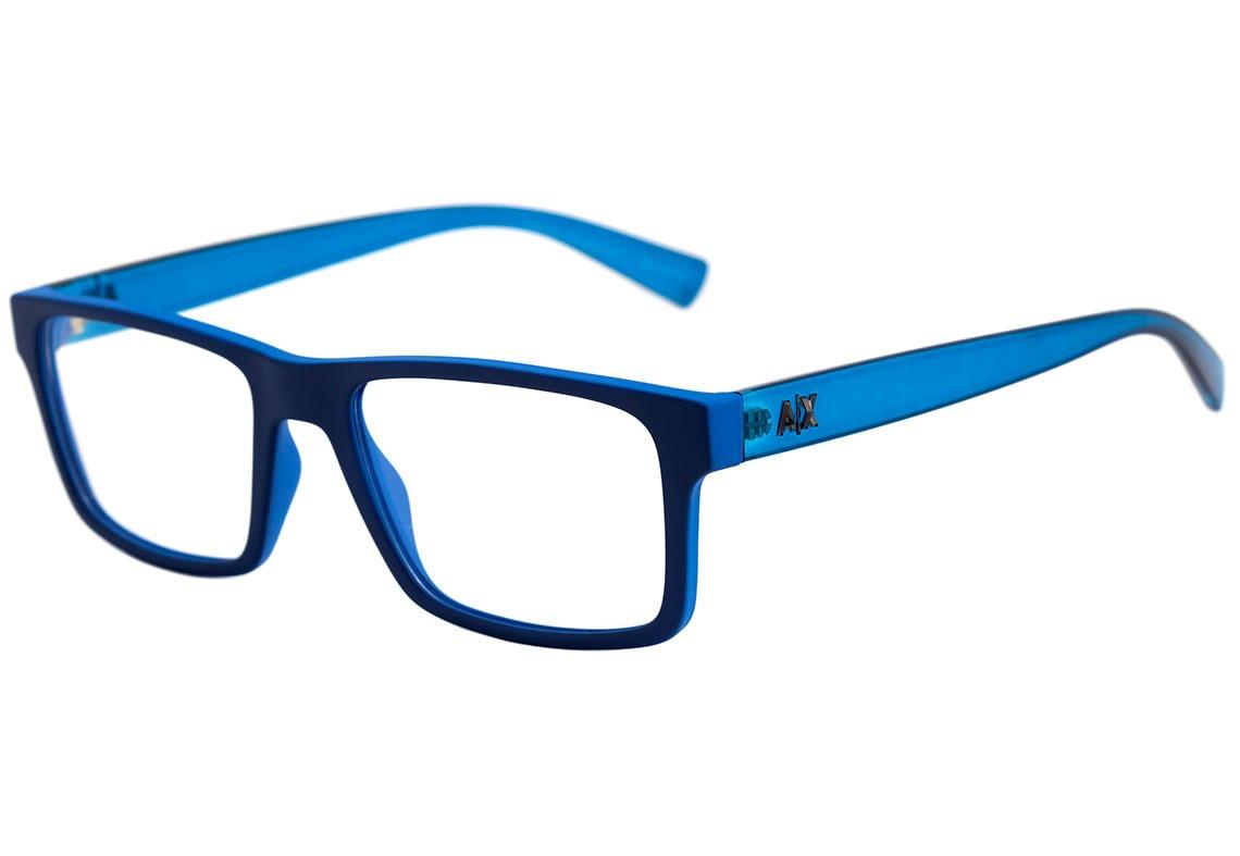 armani exchange ax 3042 l - óculos de grau 8219 azul fosco. Carregando zoom. c705782be7