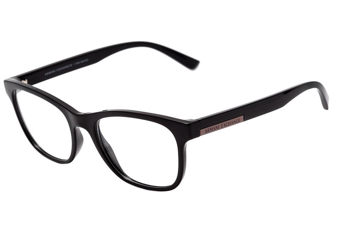 2cf14a57285 armani exchange ax 3057 l - óculos de grau 8158 preto brilho. Carregando  zoom.