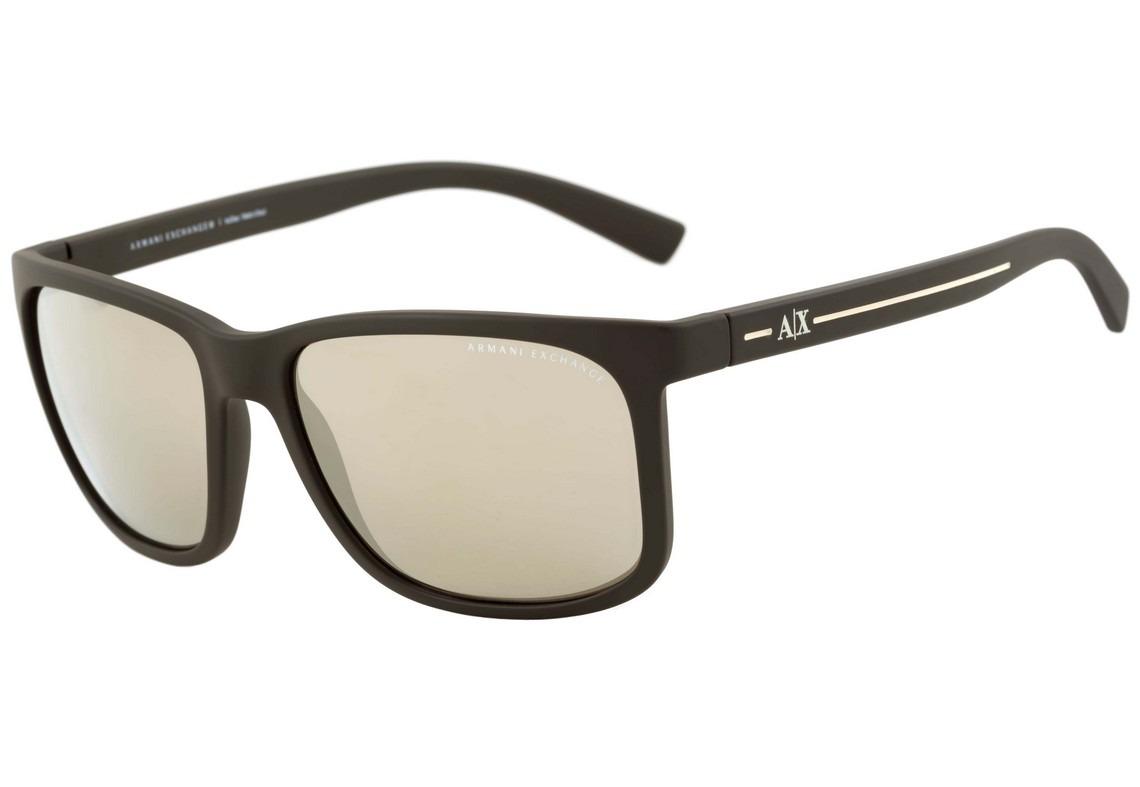 7f1ca2e63f296 Armani Exchange Ax 4041 S - Óculos De Sol 8062 5a Marrom - R  279