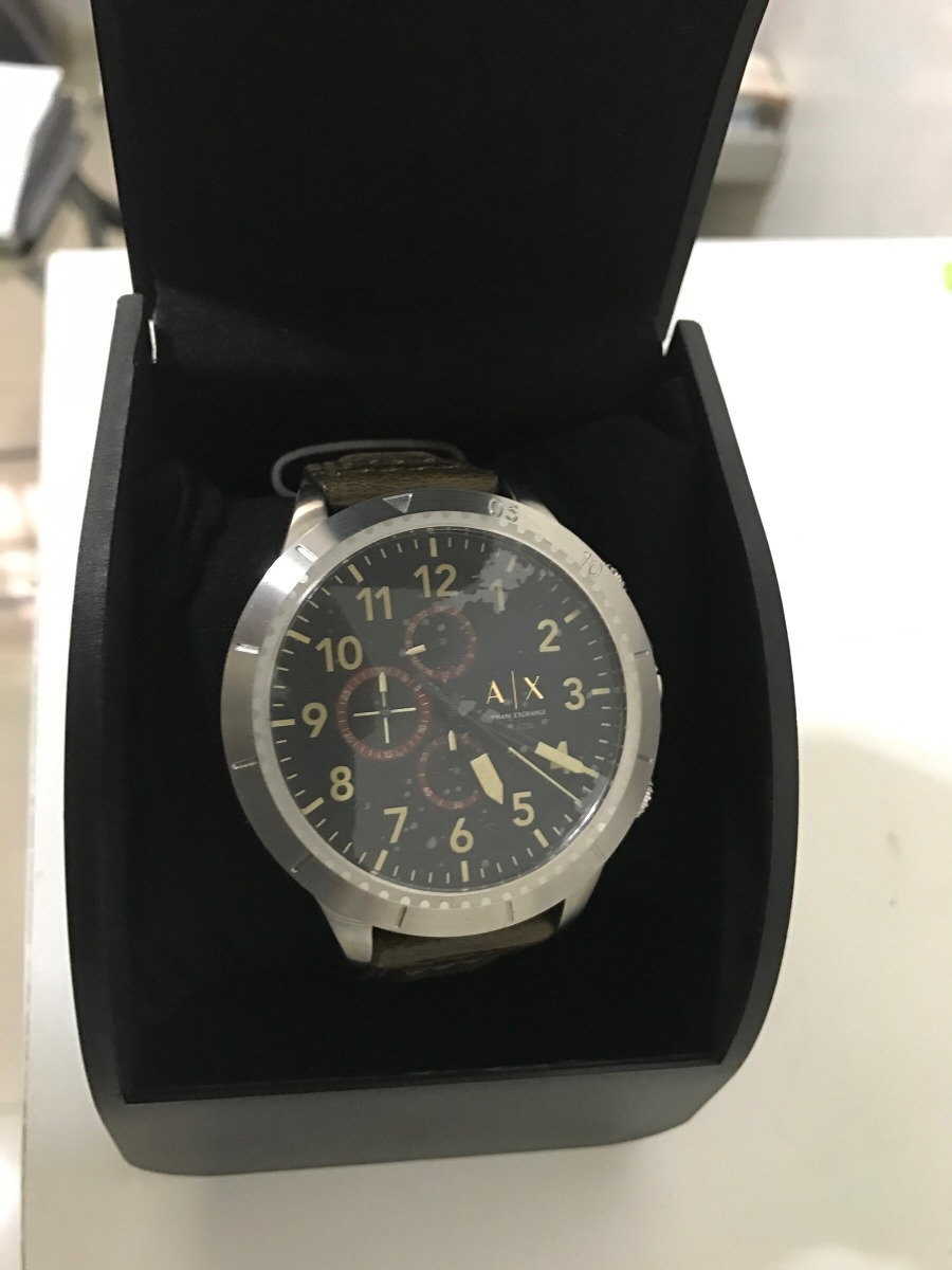 27606083294 armani exchange ax relógio pulseira de couro (novo). Carregando zoom.
