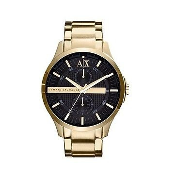 dfc8c9c5cb94 Armani Exchange Ax2122 Smart Gold Esfera Negra Chrono 46mm ...