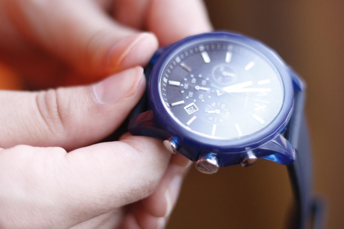 e90559bd1 Armani Exchange Cronógrafo Azul - $ 3,200.00 en Mercado Libre