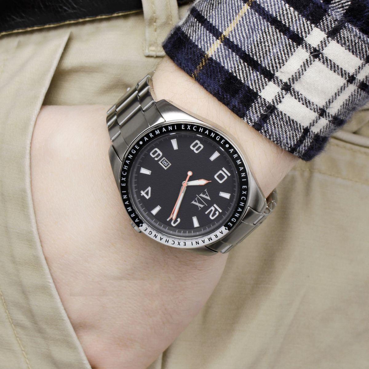 c7efcae96de Carregando zoom... relógio armani exchange ax1303 maculino pulseira aço  garanti