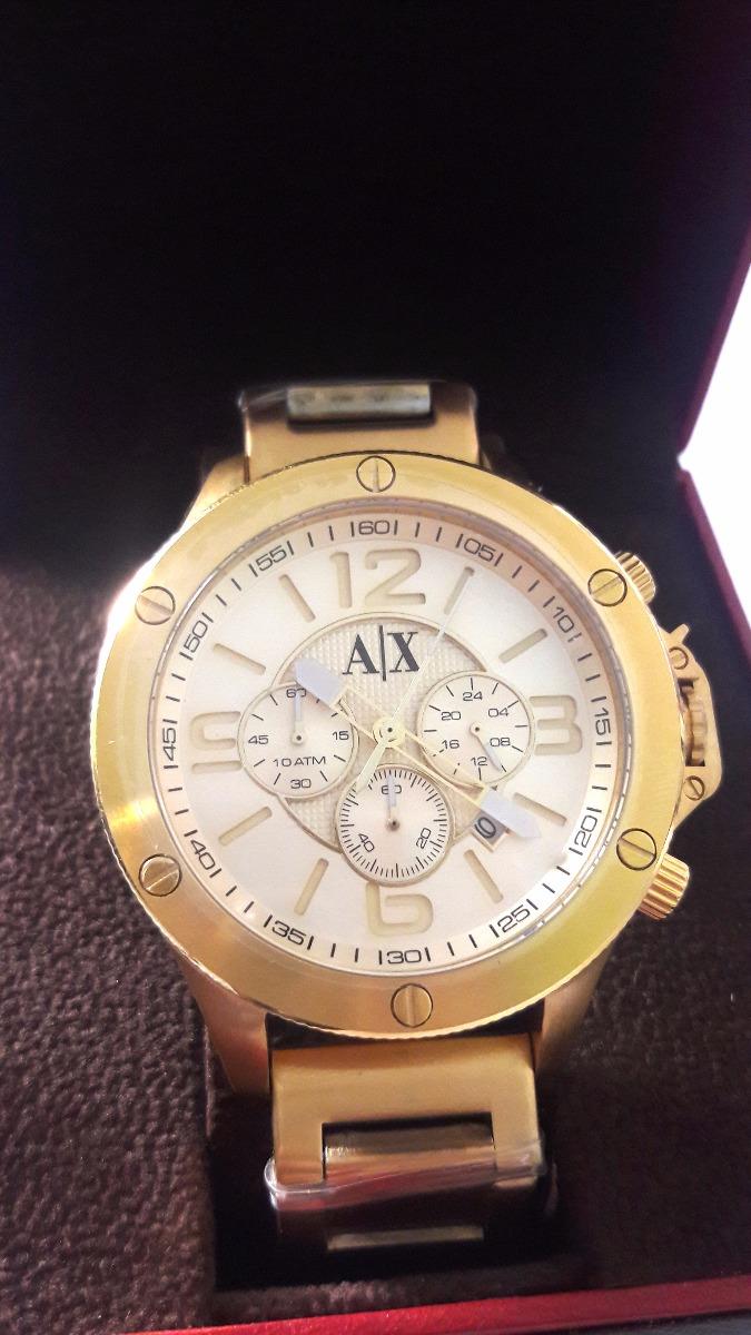 3e6b4818da5 Relogio Armani Exchange Ax1504 Dourado Caixa Manual + Frete - R  549 ...