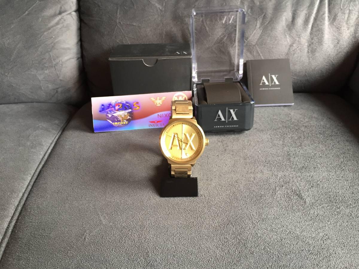 b07d43db2fdf4 Relogio Armani Exchange Ax1363 Gold Original 12x S  Juros - R  499 ...