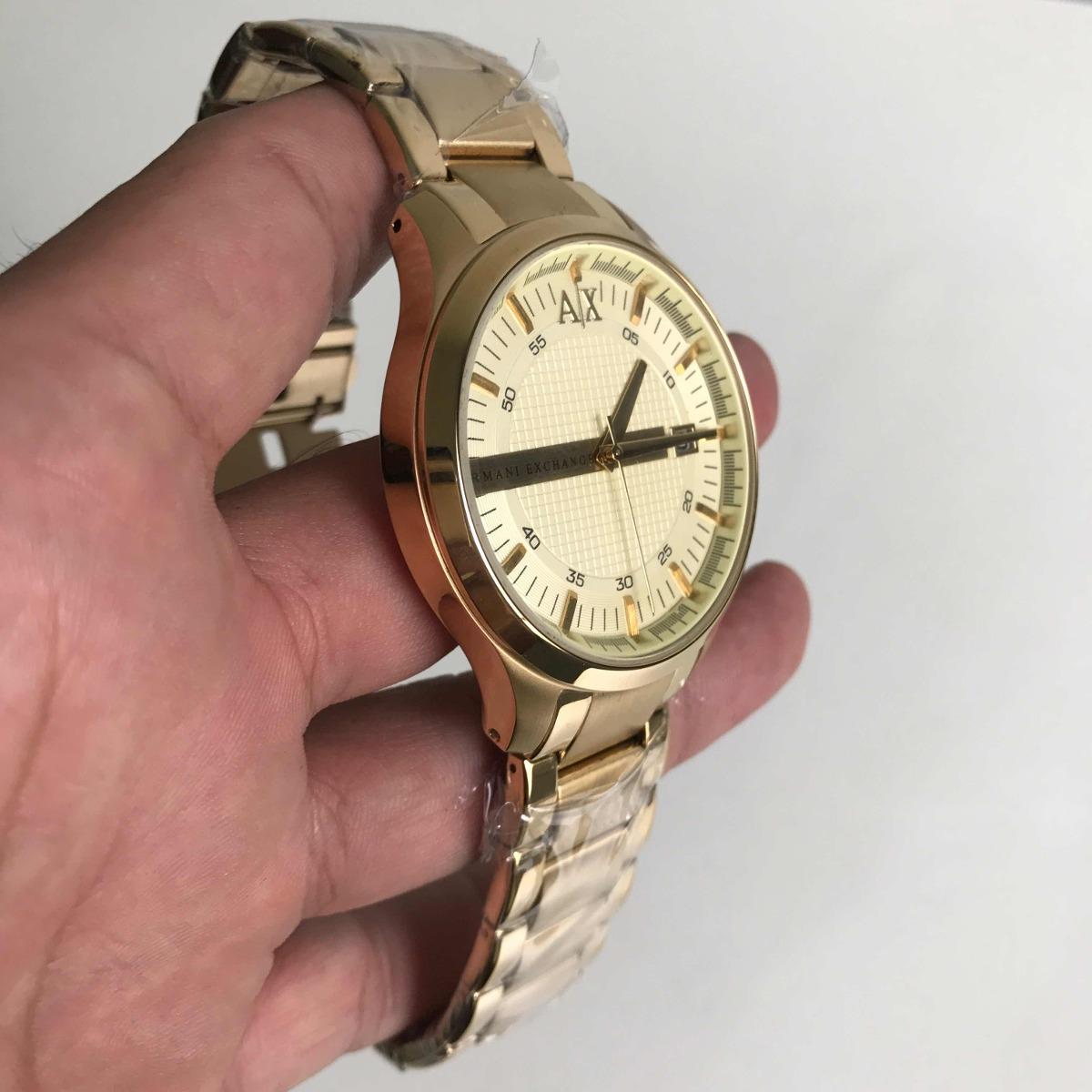ca8dadbbc6a Carregando zoom... relógio armani exchange ax-2131 dourado.