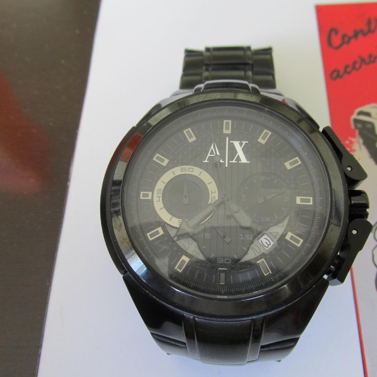 99208ce6640 Relógio Armani Exchange Quartz Vidro Cristal Mineral - R  500