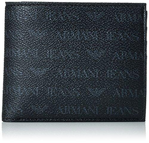 armani jeans - pequeño logo para todo el cuerpo pu bi fold -