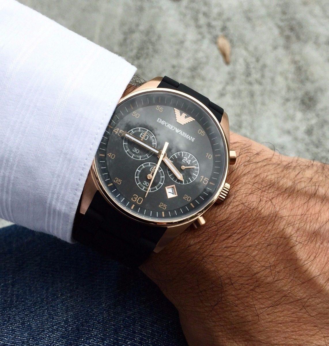 3ae2c7b4c59 Relógio Emporio Armani Ar5905 Masculino Original Preto Rose - R  334 ...