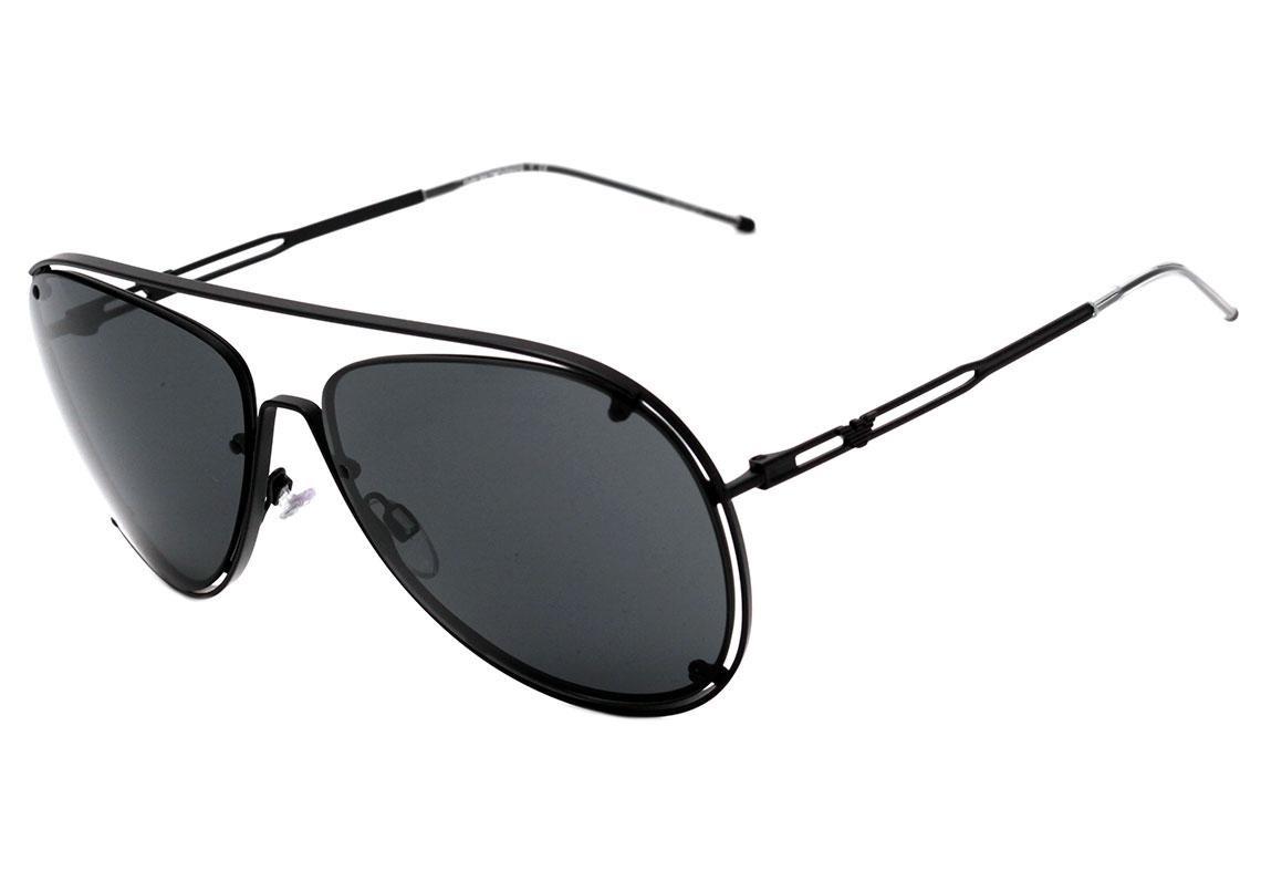 ad5304850 Emporio Armani Ea 2073 - Óculos De Sol 3001/87 Preto Fosco/ - R$ 530 ...
