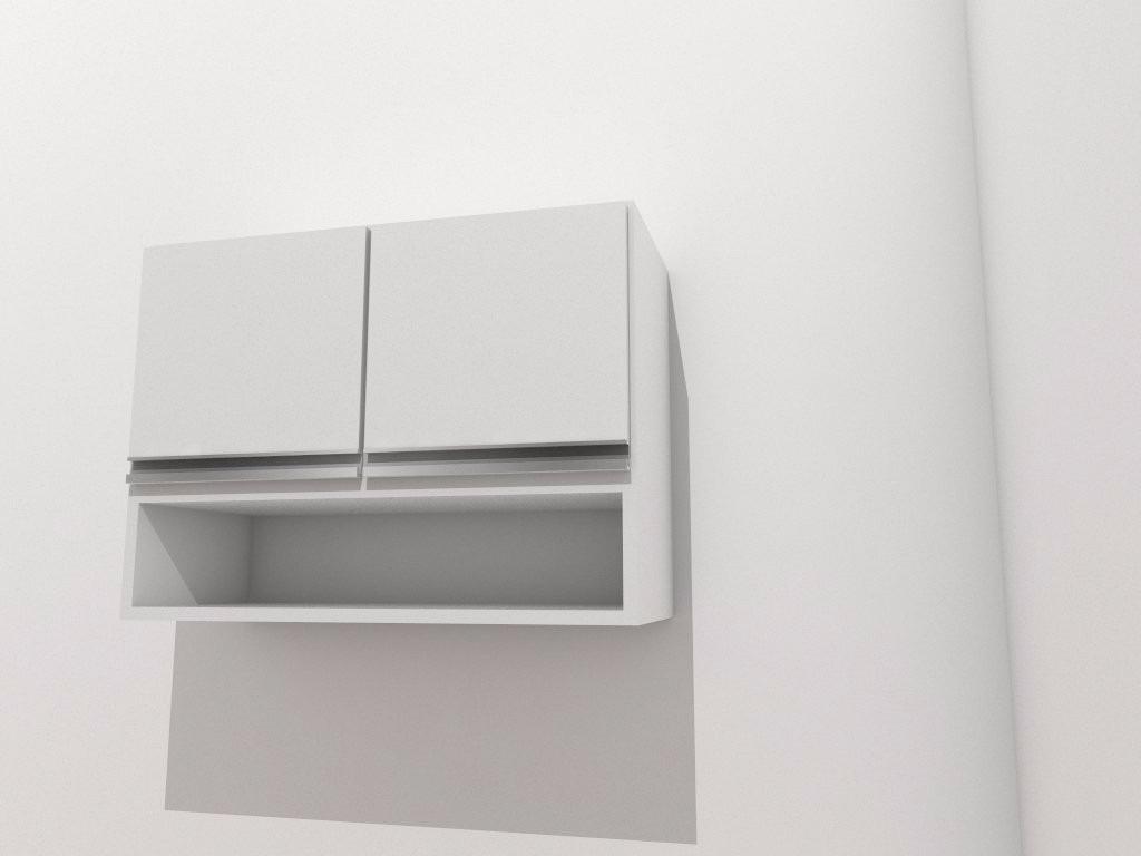 Aparador Spot Imbuia ~ Armário Aéreo 2 Porta Branco P Cozinha Lavanderia C Nicho R$ 274,00 em Mercado Livre