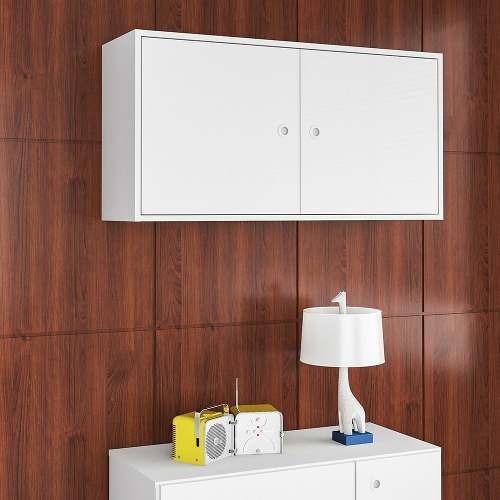 armário aéreo 2 portas sun branco - art in móveis