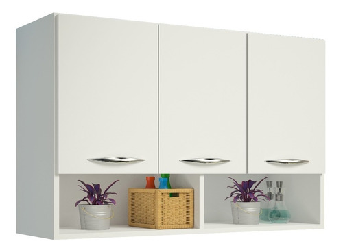 armário aéreo 3 porta suspenso cozinha parede area serviço