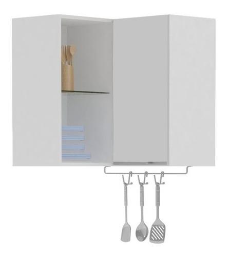 armario aereo de canto 70cm branco - aroma